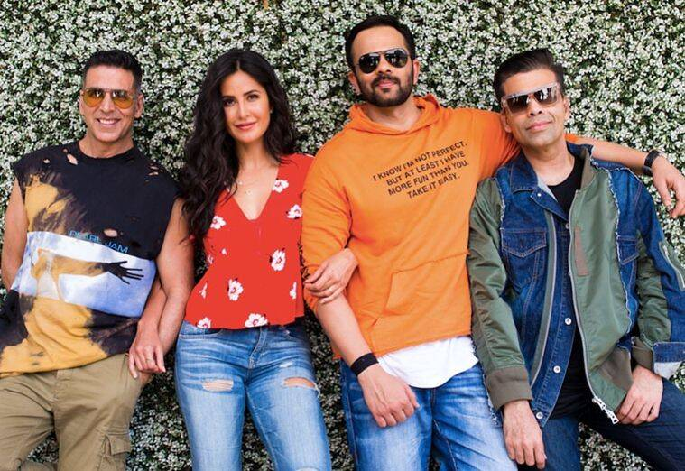 akshay, katrina, rohit and karan