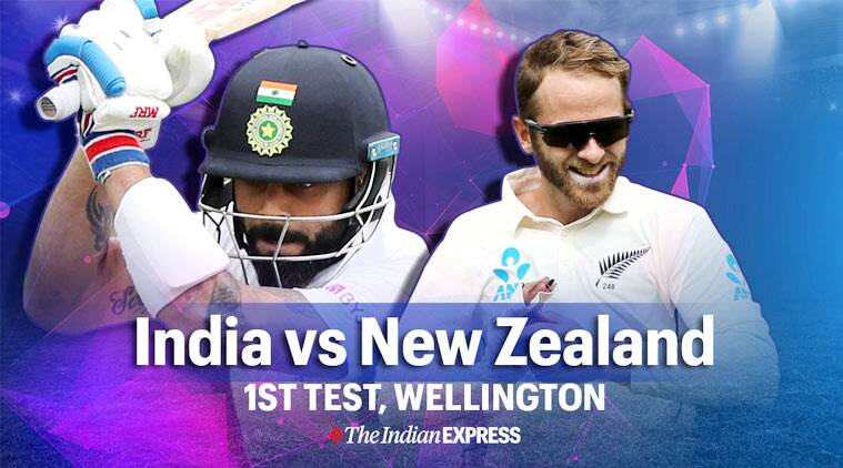 India vs new zealand 1st test day 2 live cricket score updates