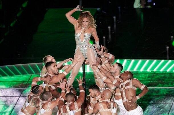 Jennifer Lopez and Shakira at Super Bowl