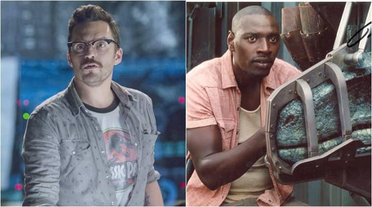 Jake Johnson Omar Sy in Jurassic World 3 cast