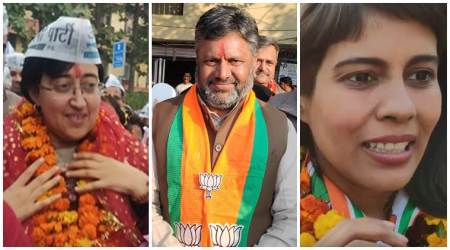 De;hi elections, Kalkaji constituency, Kalkaji seat fight, Atishi, Shivani Chopra, Dharamveer SIngh, BJP VS AAP, Kalkaji issues, Kalkaji voters, Delhi news, Indian express