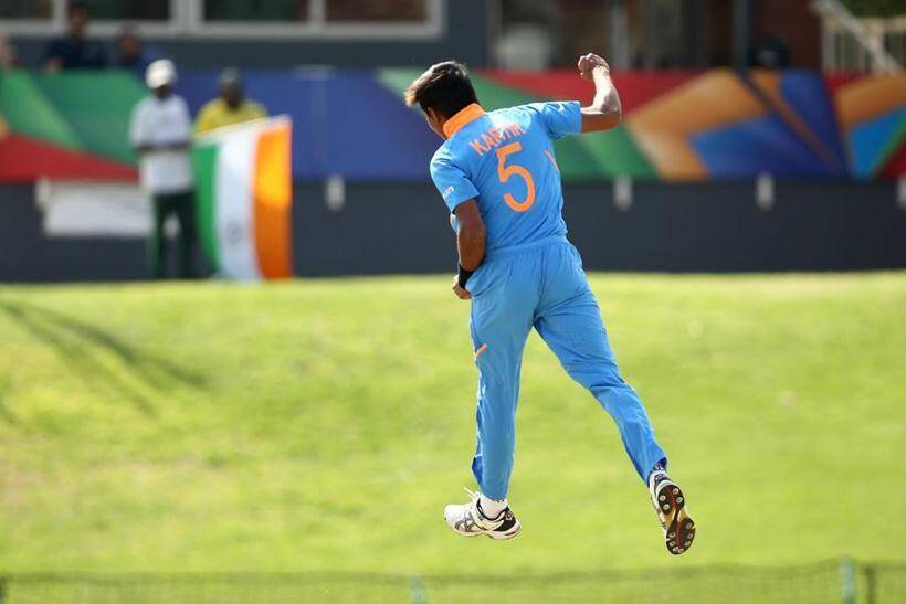 Yashasvi Jaiswal, Yashasvi jaiswal 105, Yashasvi jaiswal 105 vs Pakistan, India U19 vs Pakistan U19, India U19 vs Pakistan U19 semi final, U19 World Cup 2020, Kartik Tyagi