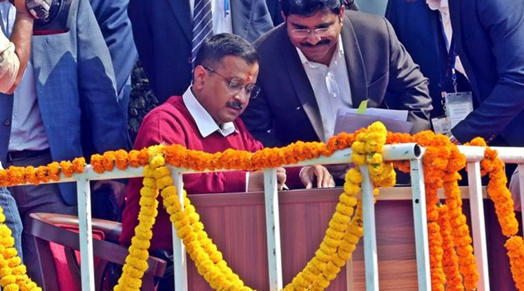 At swearing-in, talk of bijli-paani, health — and a larger role for Kejriwal