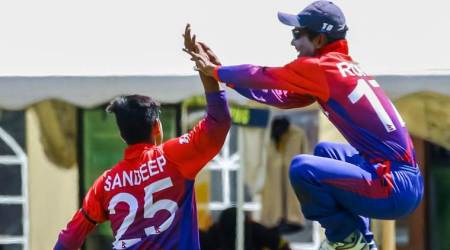 Lowest ODI total, Nepal vs USA, USA vs Nepal, USA lowest ODI total, Sandeep Lamichhane, Sushan Bhari, Sandeep Lamichhane best bowling, ODI records, cricket news