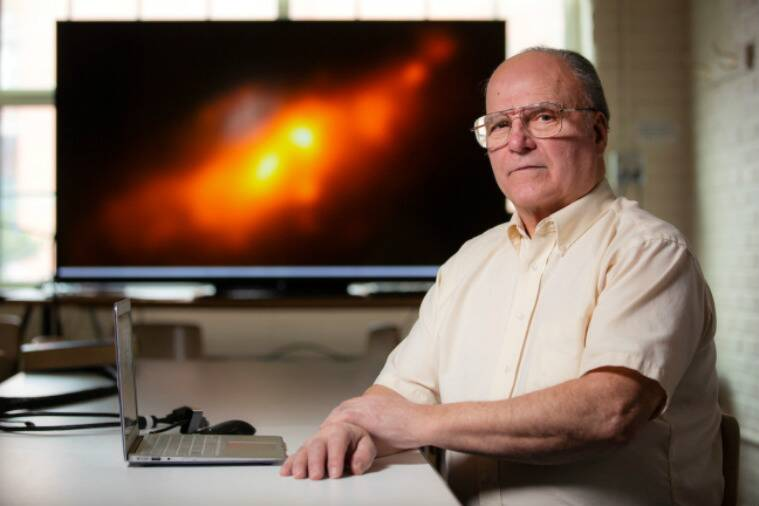 double nucleus galaxy, rare galaxy, retired engineer, iowa state university