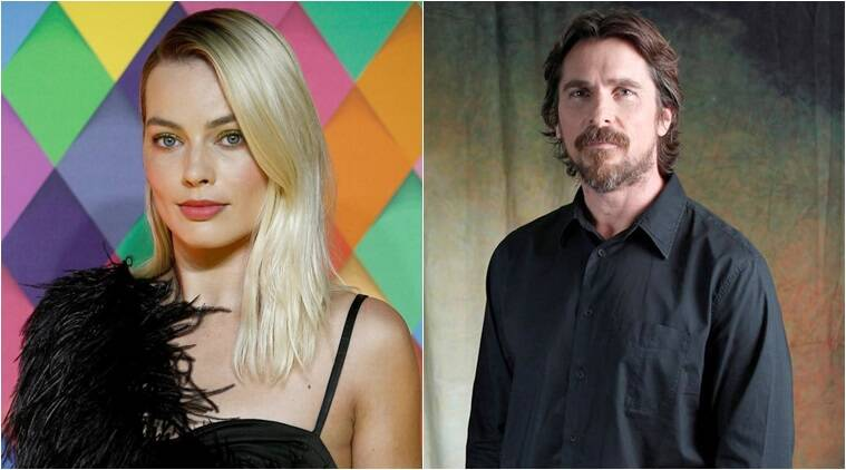 Margot Robbie and Christian Bale film