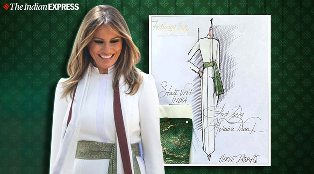 Melania Trump S Sash Has Indian Inspiration Find Out Here Lifestyle News The Indian Express