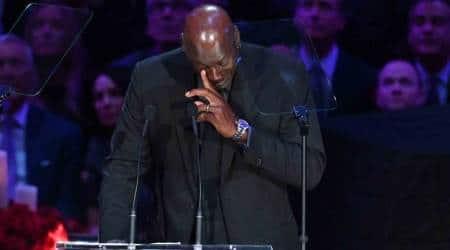 Michael Jordan, Michael Jordan emotional, Michael Jordan Kobe Bryant speech, Kobe Bryant memorial, sports news