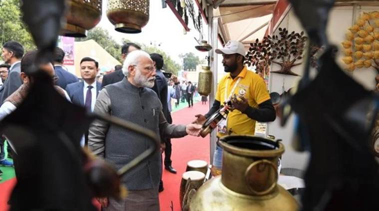 PM Modi takes artisans, minister by surprise at India Gate skills fair