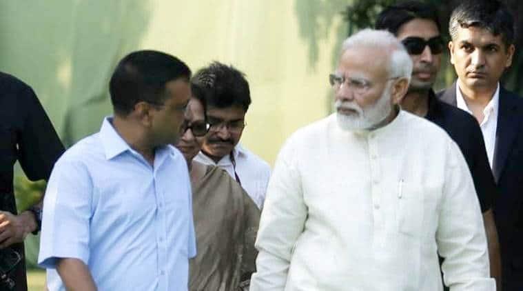 Arvind Kejriwal, Narendra Modi, Kejriwal Modi meeting, Modi Kejriwal meet, Kejriwal Modi Parliament, Delhi violence, amit shah