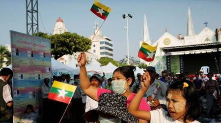 Myanmar nationalists hold pro-military rally amid tensions with government