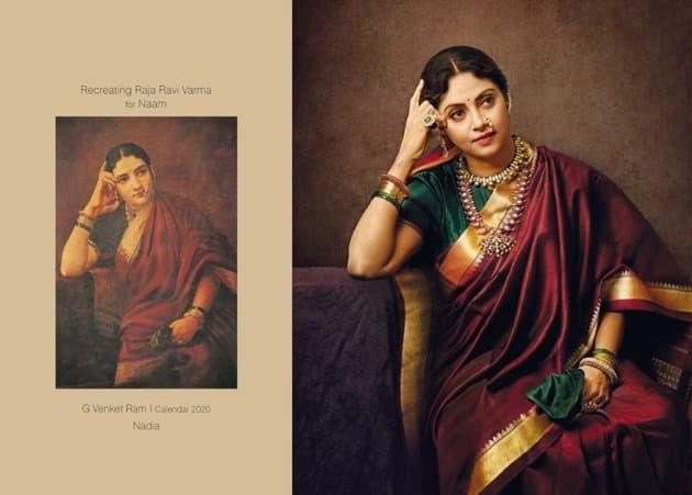 raja ravi varma calendar actresses
