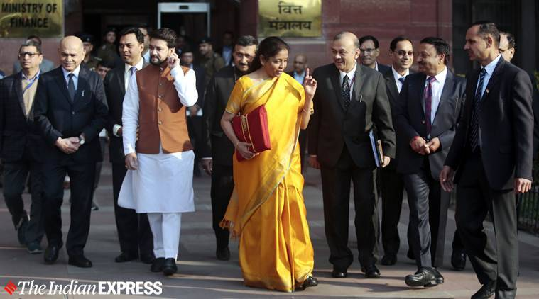 Budget 2020, Nirmala Sitharaman Budget 2020, Budget 2020 Sensex, ESOPs Tax deferred, profit deduction claim period, Sensex Nifty Budget, Indian Economy Budget 2020, Economic slowdown budget, India gdp grwoth budget, Budget news, Indian Express