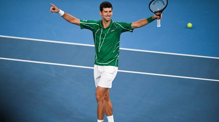 Image result for djokovic thiem australian open 2020""