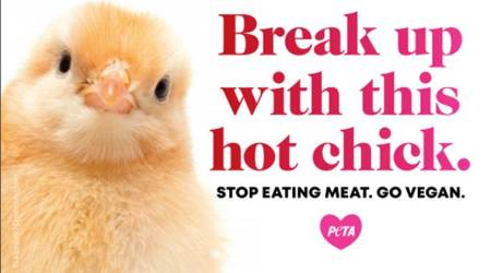 PETA ad, animal welfare, Valentine's Day, Indian Express, Indian Express news
