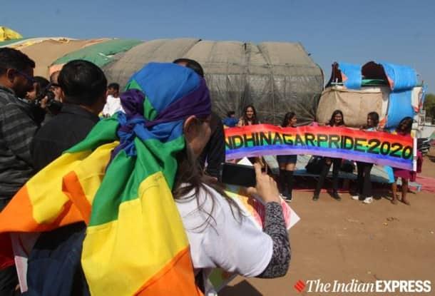 Gandhinagar queer pride parade photos, pride parade gujarat, gujarat pride parage gandhinagar pictures, indian express news