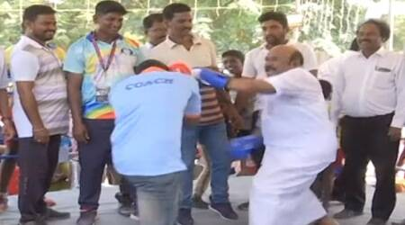 Watch: Tamil Nadu minister turns boxer, punches his way to 'victory'