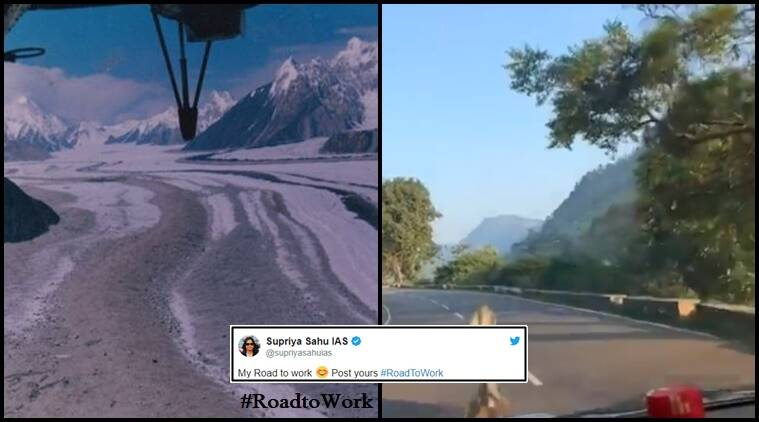 Road to work, scenery from road to work, scenery videos, Twitter thread with scenery from road to work, scenery on the way to work, Viral Twitter thread, #Roadtowork, Trending, Indian Express news