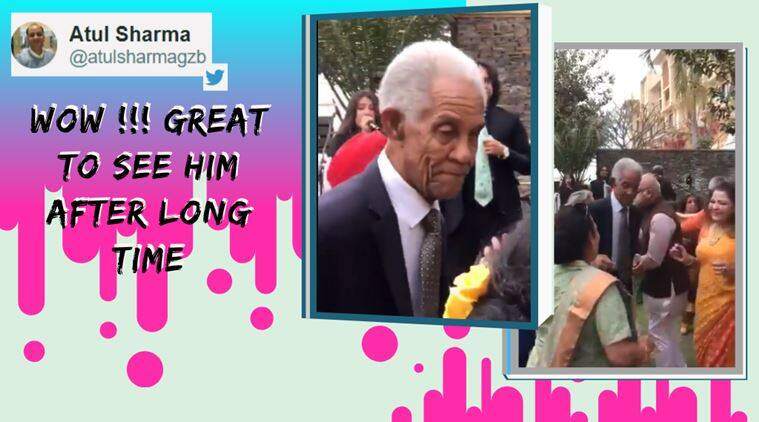 Sir Gary Sobers, Sir Gary Sobers dance video, foreign cricketers dancing, cricketers indian wedding dance, viral videos, indian express, cricket news,