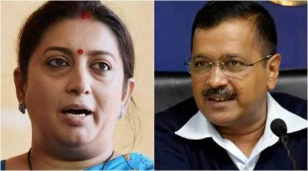 Arvind Kejriwal, Smriti Irani, women voters, Delhi voting, Delhi elections 2020, kejriwal-Irani twitter spat, Indian express