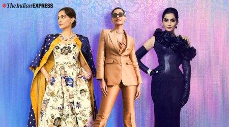 Sonam Kapoor, Sonam Kapoor fashion, Sonam Kapoor Doha Jewellery and Watches Exhibition 2020, Doha Jewellery and Watches Exhibition 2020, indian express news