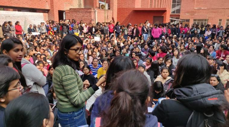 Gargi college 'molestation': Students hold protest; DCW issues notice to police, campus authorities over inaction