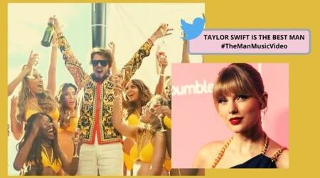 Taylor Swift, Taylor Swift the man, Taylor Swift dresses up like man, Taylor Swift Lover album, Taylor Swift latest single, Taylor Swift the man latest single, Trending, Indian Express news