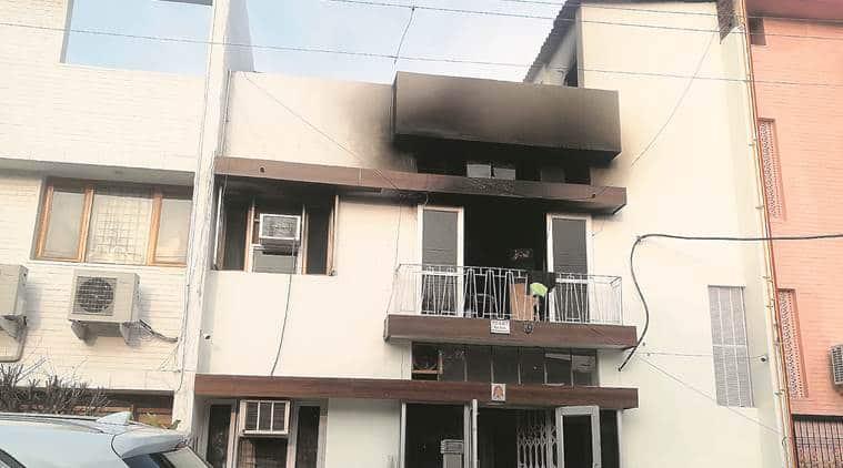 Chandigarh PG fire, Chandigarh fire, illegal PG facility, chandigarh news, indian express news