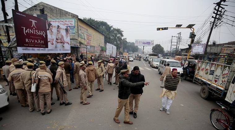 Police fire teargas shells as anti-CAA protesters turn violent in Aligarh
