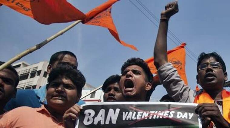 Valentine's Day, Bajrang Dal, Valentine's Day Hyderabad, Pulwama attack anniversary, Veer Jawan Diwas, hyderabad news, indian express