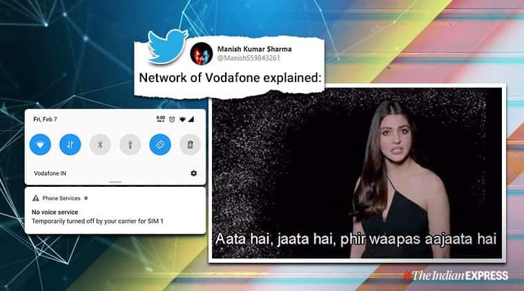 vodafone down, vodafone india, vodafone idea, vodaphone outage, vodafone down bengaluru, indian express, tech news, twitter trends