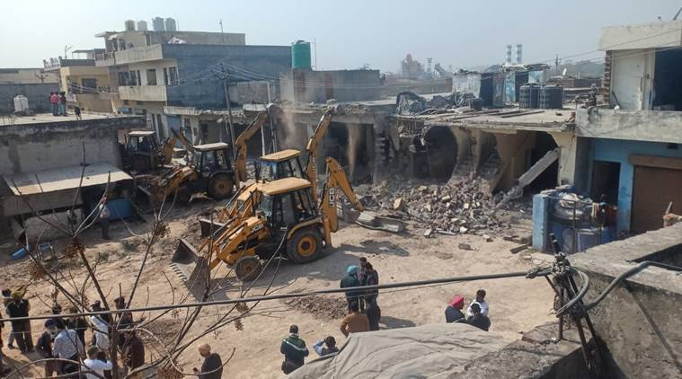 Mohali administration carries out demolition drive in Zirakpur