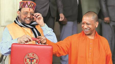 UP Budget, Yogi Adityanath, UP Finance Minister, Suresh Khanna, BJP government, lucknow news, UP news, indian express news