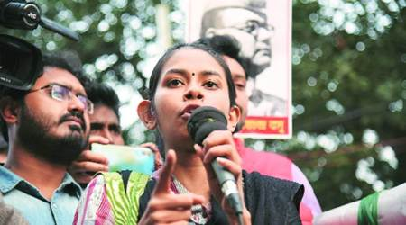 aishe ghosh, aishe ghosh denied entry in calcutta university, aishe ghosh jnu, aishe ghosh jnu attack, aishe ghosh at calcutta university, kolkata city news