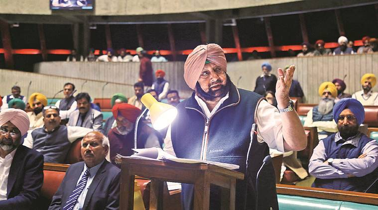 In House, Amarinder Singh compares his govt to AAP's Delhi, says Punjab doing better