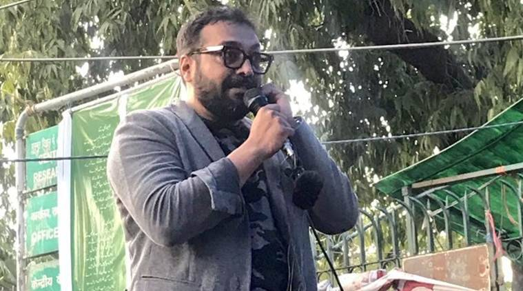 Anurag Kashyap at Jamia, Anurag Kashyap at Jamia protests, Anurag Kashyap Jamia CAA protests, Jamia CAA protests, Jamia protests, Citizenship Amendment Act, CAA, CAA protests, India news, Indian Express
