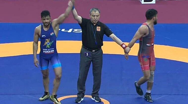 Asian wrestling championship india bag three greco roman bronze medals on day 2