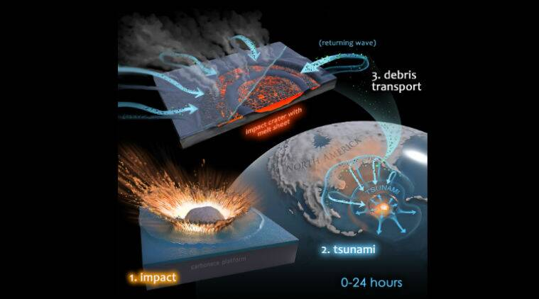 dinosaurs extinct, asteroid killed dinosaurs, dinosaurs killing asteroid, cyanobacteria, Chicxulub crater
