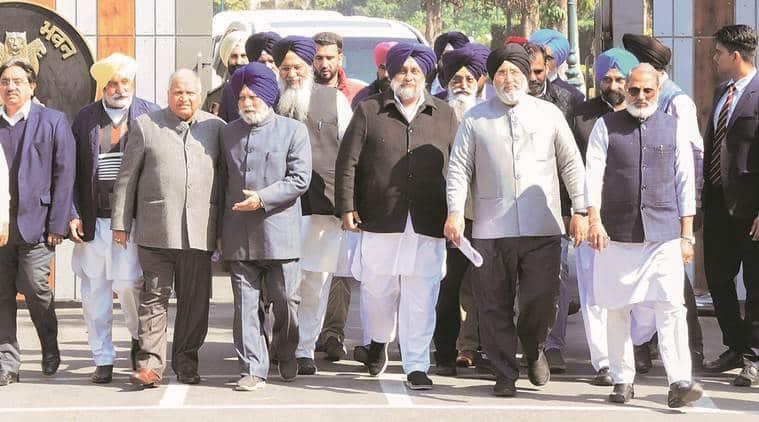 Punjab Governor VP Singh Badnore, Sukhbir Singh Badal, Capt Amarinder Singh, Bhupinder Singh Hooda, SAD-BJP, separate Sikh body for Haryana, punjab news, india news, indian express