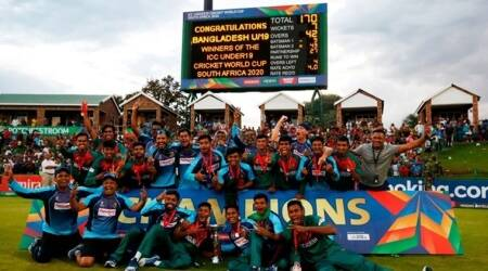 bangladesh u19 world cup, u19 world cup winners, india vs bangladesh, india vs bangladesh u19 final, ind vs ban, ravi bishnoi, dhruv jurel, u19 world cup photos, cricket news