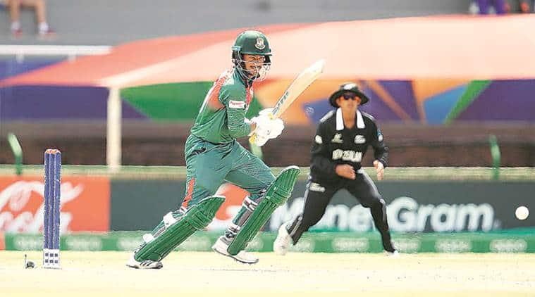 Mahmudul Hasan Joy, Bangaldesh vs New Zealand, Ban vs NZ U-19 cricket world cup, U-19 cricket world cup, Cricket news, sports news, Indian Express