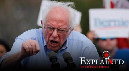 Bernie Sanders, Bernie Sanders Nevada, Bernie Sanders Nevada win, US presidential elections, presidential elections US, Express Explained, Indian Express