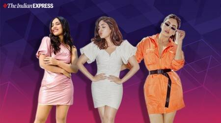 Bhumi pednekar, v latest photos, Bhumi pednekar bala, Bhumi pednekar dum laga ke haisha, Bhumi pednekar fashion, short dresses trends, indian express news