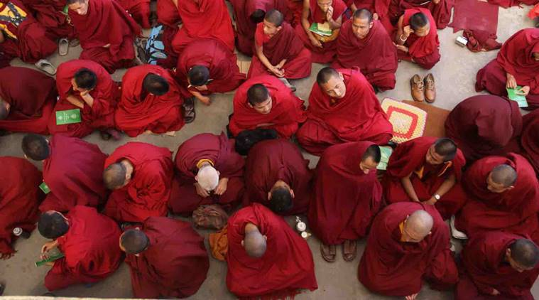 dharamsala, monks, mcleodganj