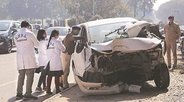 chandigarh cricket stadium accident, chandigarh road accident near cricket stadium, judicial magistrate killed in chandigarh accident, chandigarh city news