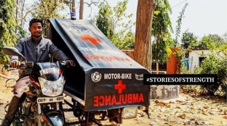 chhattisgarh bike ambulance, narayanpur bike ambulance, unicef bike ambulance, abujmarh bike ambulance, chhattisgarh news