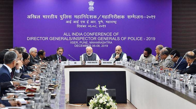 Conference on DGPs, PM Modi at conference of DGPs, police watch on whatsapp groups, police watch on universities, anti caa protests