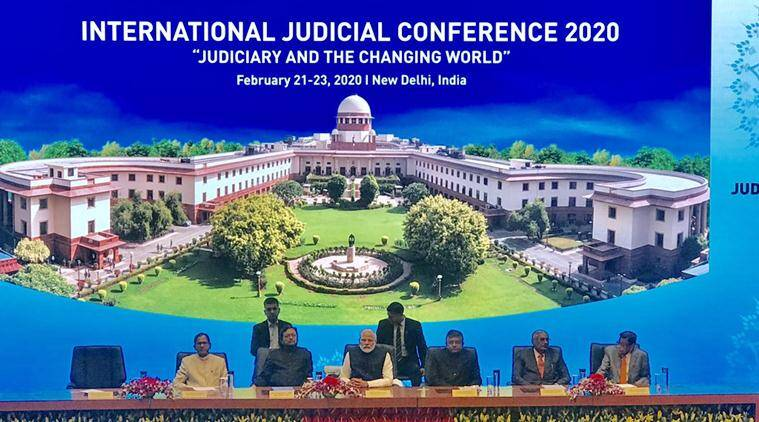 ravi shankar prasad, international judicial conference 2020, supreme court, judiciary, pm narendra modi, cji s a bobde, india news, indian express