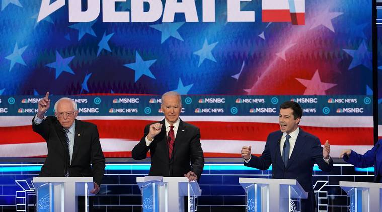 Democratic candidates set a TV ratings record at Las Vegas debate