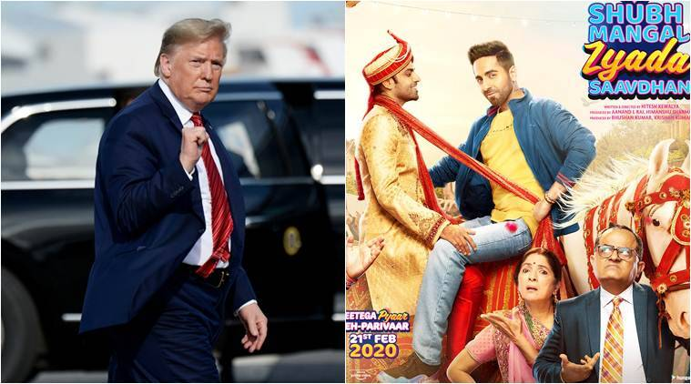 donald trump reacts shubh mangal zyada saavdhan
